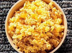 Rice to complement barbecued pork or chicken.