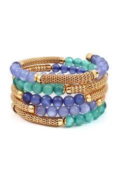 Kimmie Mesh Bracelet in Gradient Blues