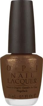 Brown OPI - got this color on my hand nails today, looks so gorgeous :)