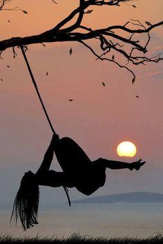 atardecer#viento del alma # Sol & Luna..#