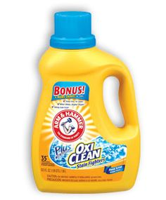 Arm and Hammer Laundry Detergent.  It must include Oxi-Clean.