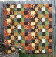 Halloween Lap Quilt Fall Autumn Handmade by atthebrightspot, $298.00