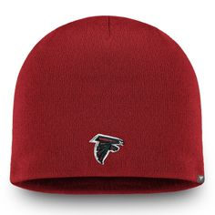 a49515195 Men s Atlanta Falcons NFL Pro Line by Fanatics Branded Red Core Uncuffed II  Knit Beanie