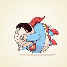 What if Superheroes Were Fat? Click to see all images