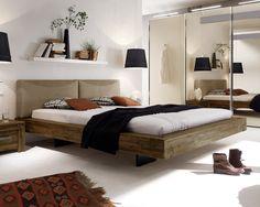Massives und rustikales Bett Penco