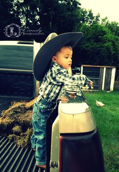 Country Baby Photo by L.Vandy Photography #country #baby #photo #cowboy