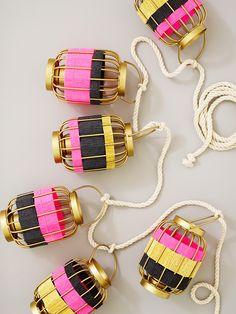 Striped Wire Lantern Garland DIY / by ThussFarrell for Oh Joy