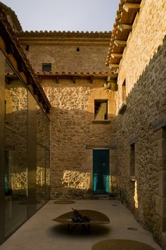 The entrance to the #kitchen #Hotel #Design #Modern #Restaurant #Architecture #Unique #Heritage #Countryside #Luxury #Landscape #Spain #Aragon #Monroyo #Teruel #Matarranya #Matarrana #Shrine