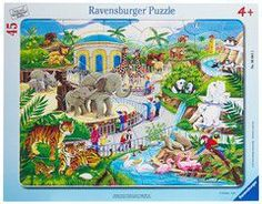 Ravensburger puzzle frame - visit to the zoo (30-48 τεμ.)