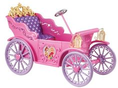 "Disney Princess Vehicle - Royal Car - Mattel - Toys ""R"" Us Disney Princess Carriage, Disney Princess Toys, Disney Toys, Disney Princesses, Princess Pics, Princess Castle, Princess Costumes, Princess Party, Toy Cars For Kids"