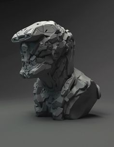 A Pack of Hard Surface Details for Your Concepts Cyberpunk Character, Cyberpunk Art, Hard Surface Modeling, Robots Characters, Graffiti Wallpaper, Face Design, Science Fiction, Concept Art, Lion Sculpture