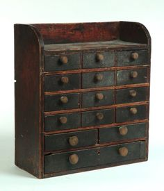 Antique drawers.