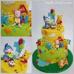 Winnie Pooh Torte, Winnie The Pooh Birthday, Boys 1st Birthday Cake, First Birthday Parties, First Birthdays, Elegant Birthday Cakes, Paw Patrol Cake, Happy Birthday Images, Cupcakes