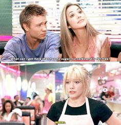 """A Cinderella Story Austin Ames is played by Chad Michael Murray, Shelby Cummings is played by Julie Gonzalo, and Samantha """"Sam"""" Mont A Cinderella Story, Funny Cute, The Funny, Funny Work, Super Funny, Funny Stuff, Funny Things, Funny Movies, Good Movies"""