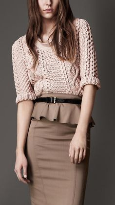 Burberry London Cable Knit Sweater