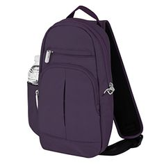 Travelon AntiTheft Classic Lite Sling Purple One Size >>> Check this awesome product by going to the link at the image.