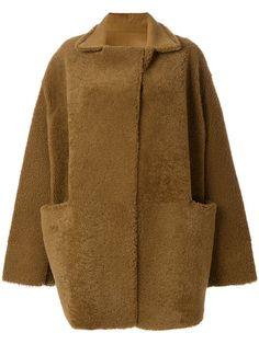 Купить Liska пушистое пальто свободного кроя.