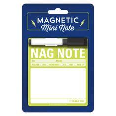 Nag Note Magnetic Mini Note by Knock Knock - knockknockstuff.com