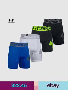 f876a927e609a Boys' Clothing (Sizes 4 & Up) Boys Under Armour Youth Hg Armour Mid  Compression Shorts 1289960