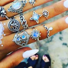 """💅🏻 """"I only wear jewelry on days that end with Y!"""" You'll  have jewelry to wear every day of the week with this beautiful 11-Piece Vintage set (Free Shipping Worldwide) 👗 . 👉🏻 Find us here hashtagswimwear.com . #hashtag_swimwear #bracelets #jewellery #jewelry #swimwear #beachwear #bikini #swimsuit #onepiece #bathingsuit #fashion #beach #travel #beachlife #swim #summer #ootd Beach Jewelry, Jewelry Sets, Wrap Around Bikini, Arm Bracelets, Summer Ootd, Beachwear, Swimwear, Floral Bikini, Beach Travel"""
