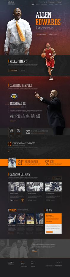 Web design & Html for basketball Coach Allen Edwards - CBI Champions 2017 with Wyoming Cowboys team. #parallaxWebDesign, #parallax, #sportwebdesign, #sport, #basketballwebsite, #basketballWebDesign, #basketball, #basketballcoach, #CoachAllenEdwards, #webdesign, #websitedesign, #webDesigner, #CBIChompions, #sportwebsite, #psdtohtml, #frontenddeveloper, #webdeveloper