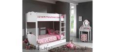 Dětský pokoj pro tři holky Bunk Beds, Design, House, Furniture, Home Decor, Up, Products, Basic Colors, Decoration Home