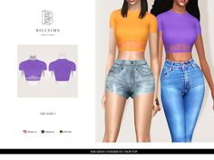 Sims 4 Mods Clothes, Sims Mods, Sims 4 Collections, Strapless Crop Top, V Neck Bodysuit, The Sims4, Sims 3, Dress With Bow, Long Sleeve Crop Top
