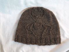 Hand Knit Wool Children's Brown Spider Hat Size 3-6 by jaimalaya