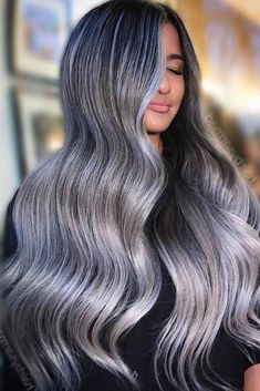 Trendy Hair Color Picture DescriptionA silver hair color is our future. That is why we have created a photo gallery featuring the sassiest looks with silver and we will also help you learn how to get and then how to maintain a super-chic silver hair hue. Hair Color Shades, Red Hair Color, Cool Hair Color, Dramatic Hair Colors, Bright Hair Colors, Blood Red Hair, Silver Hair Dye, Grey Hair Transformation, Hair Color Pictures