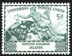 Stamp: Mercury Scattering Letters (Solomon Islands) (U.P.U. (Universal Postal…