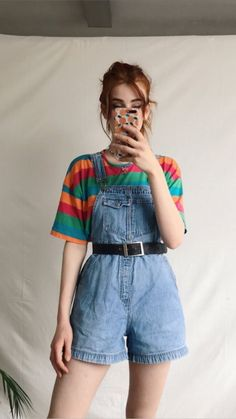 65 outstanding summer outfits for your wardrobe 44 ~ Litledress Vintage Outfits Retro Outfits, Cute Casual Outfits, Outfits For Teens, Grunge Outfits, 80s Style Outfits, Diy Outfits, Cool Outfits For Girls, 90s Clothing Style, Vintage Clothing