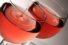 Drop of rose wine