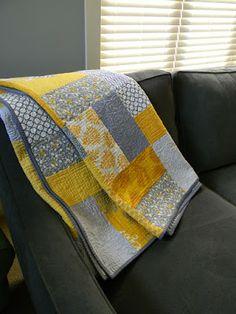 Teaginny Designs: Yellow and Gray Pinwheel