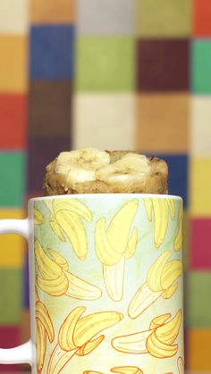Banana bread cake in a mug mug it out. Microwave Banana Bread, Banana Bread Mug, Mug Cake Microwave, Microwave Recipes, Healthy Pie Recipes, Mug Cake Healthy, Mug Recipes, Quick Recipes, Buckwheat Cake