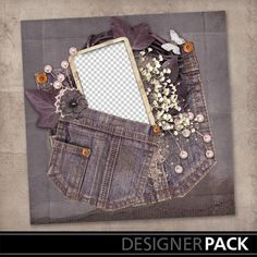 Although this is digital...I love the idea for an old denim pocket as a journaling pocket on a canvas or page.