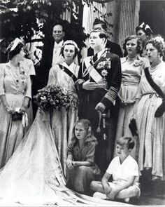 King Michael and Queen Anne of Romania. Royal Wedding Gowns, Royal Weddings, Wedding Dresses, Princess Alexandra, Princess Caroline Of Monaco, Michael I Of Romania, History Of Romania, King Queen, Queen Anne