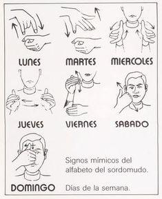 me encanta la idea de hacer los mímicos, mientras cantamos: Dias de la semana en LSE...Days of the week in Spanish Sign Language