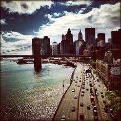 4/22 FDR Drive and Manhattan skyline. Photo by @marzenka