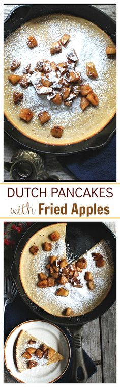 Delicious, puffy pancakes cooked in a skillet and topped with a sweet dose of caramelized apples. My family LOVES IT!