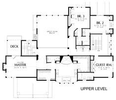 Craftsman Style House Plan - 5 Beds 4.5 Baths 4768 Sq/Ft Plan #48-150 Floor Plan - Upper Floor Plan - Houseplans.com