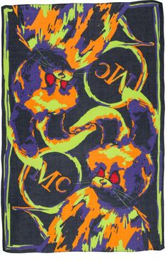 Mcq By Alexander Mcqueen Multicolor Angry Bunny Scarf Alexander Mcqueen, Bunny, Manga, Stuff To Buy, Painting, Women, Art, Fashion, Art Background