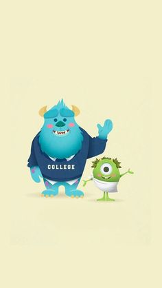Monsters - iPhone wallpapers @mobile9 | #cartoon #cute: