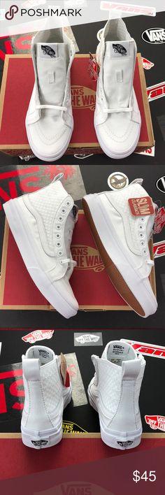 76c9898e0b Sk8-Hi Slim Gore(Checker Gore) True White Vans Sk8-Hi