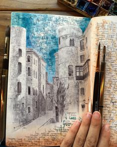 Dina brodsky travel sketchbook, artist sketchbook, pen and watercolor, wate Travel Sketchbook, Artist Sketchbook, Architecture Portfolio, Architecture Art, Design Floral, Pen And Watercolor, Watercolor Paintings, Urban Sketchers, Art And Illustration