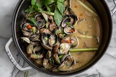 Thai Basil Leaves, Little Neck Clams, Tom Yum Soup, Canned Coconut Milk, Gluten Free Chicken, Mussels, Fish Sauce, Lemon Grass, Chowder