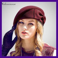 9c0d537785c44 Female Cute British Australian Wool Felt Beret Hat Women French Lady Artist  Flat Cap Bow Boina. Ropa TumblrSombreros ...