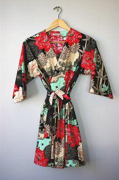 Kimono Style Robe / Dressing Gown / Cover Up - Etsy Lingerie Party, Kimono Pattern, Bridesmaid Robes, Bridesmaids, Hipster, Grunge, Kimono Fashion, Dress Me Up, Style Me