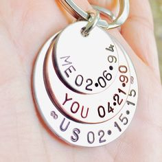 Me, You, Us Personalized Keychain  Christmas  Gifts For Him