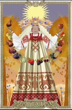 Goddess Makosh Eastern European early goddess of women, fertility, and fate.