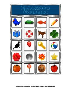 Little Learning Labs - Classroom Counters Set - 20 Math Manipulatives Sets from Velerion-Damarke from Velerion-Damarke on TeachersNotebook.com (22 pages)  - This set of classroom printable manipulatives features 20 different pictures of fun, colorful different common objects. There are 20 per page